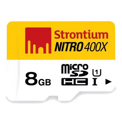 Strontium Nitro 8GB MicroSD Card Class10 - 60MB/s Memory Card