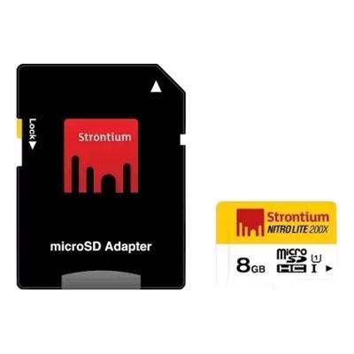 Strontium Nitro Lite 8GB MicroSD Card Class10 - 60MB/s Memory Card