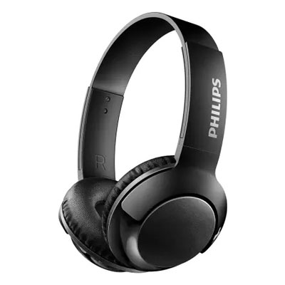 Philips SHB3075 Bluetooth Headset with Mic (Black, On the Ear)