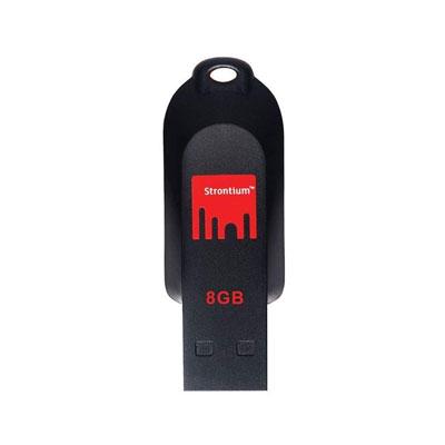 Strontium POLLEX 8 GB Pen Drive (Black)