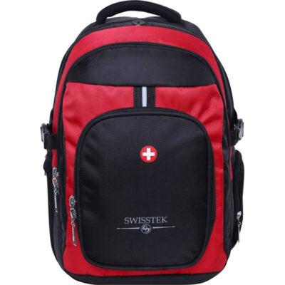 Swisstek Laptop Back Pack 25 L Laptop Backpack (Black, Red)