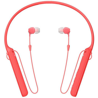 Sony C400 Bluetooth Headset with Mic (Red, In the Ear)