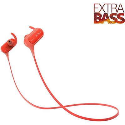 Sony XB50 Bluetooth Headphone (Red, In the Ear)