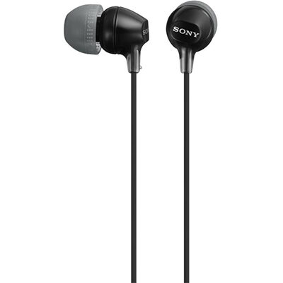 Sony MDR-EX15LP Wired Headphone (Black, In the Ear)