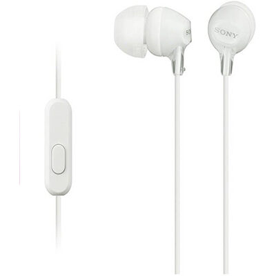 Sony MDR-EX15AP Wired Headphone (White, In the Ear)