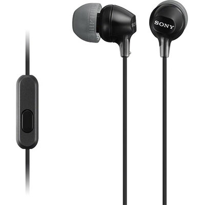 Sony MDR-EX15AP Wired Headset with Mic (Black, In the Ear)