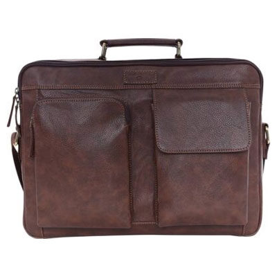 Swisstek 15 inch Laptop Tote Bag (Brown)