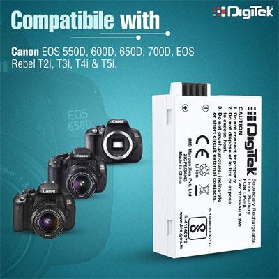 Digitek LP-E8 Camera Battery + Wrnty