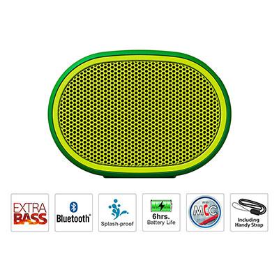 Sony SRS-XB01 Portable Bluetooth Speaker (Green, Mono Channel)