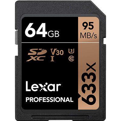 Lexar Professional 633x 64GB SDXC UHS-IU1 Card