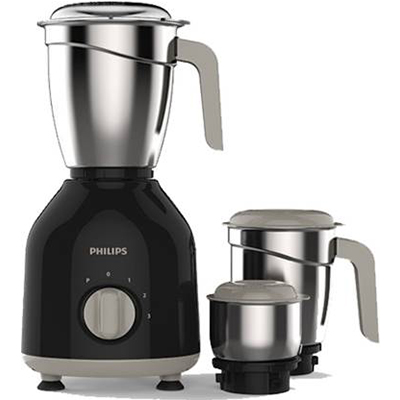 Philips Daily Collection HL7756 750 W Mixer Grinder (Black, 3 Jars)
