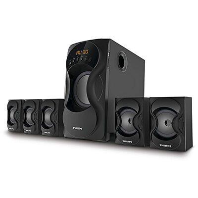 Philips SPA5162 60 W Bluetooth Home Audio Speaker (Black, 5.1 Channel)