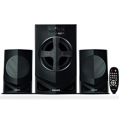 Philips MMS2030F 30 W Home Audio Speaker (Black, 2.1 Channel)