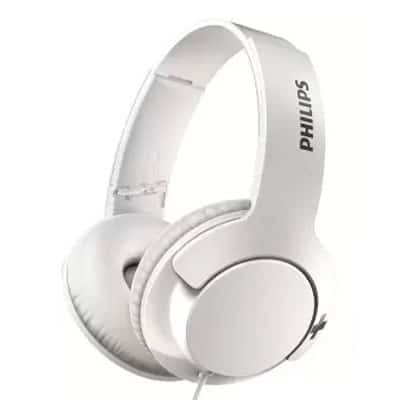 Philips SHL3175WT Bass+ Headphones with Mic