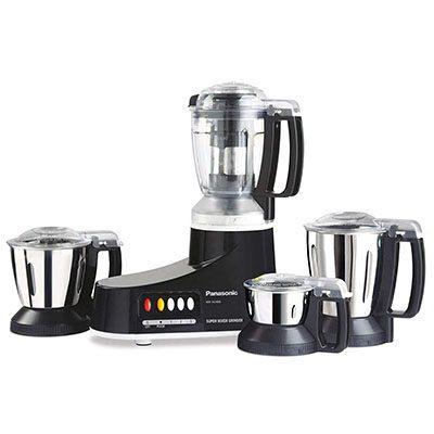 Panasonic MX-AC400B 550 W Juicer Mixer Grinder (Black, 4 Jars)