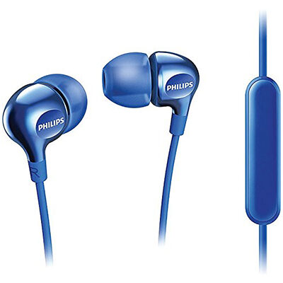 Philips SHE3555 Wired Headset with Mic Blue