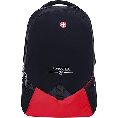 Swisstek BP-020 Laptop Back Pack Black Red