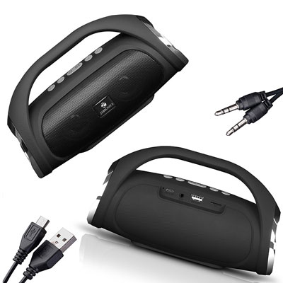 Zebronics Zeb-Splash Bluetooth Speaker (Black, Stereo Channel)