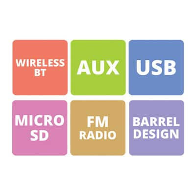 Zebronics Axon Bluetooth Speaker (Black, Stereo Channel)
