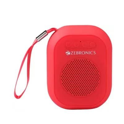 Zebronics ZEB-SAGA 3 W Bluetooth Speaker (Red, 4.1 Channel)