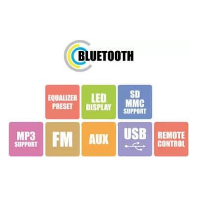 Zebronics ZEB BT8490RUCF 80 W Bluetooth Home Theatre (Black, 5.1 Channel)
