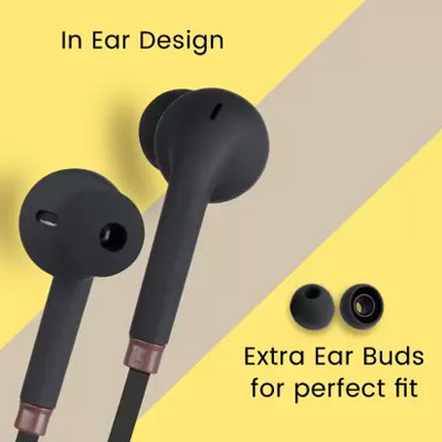 Zebronics ZEB-COROLLA Wired Headset with Mic (Black, In the Ear)