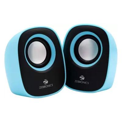 Zebronics ZEB - PEBBLE NEW Laptop/Desktop Speaker (Blue, 2.0 Channel)