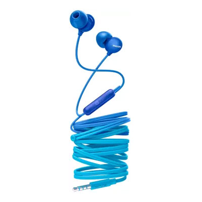 Philips SHE2405BK-00 Upbeat inear Earphone with Mic (Blue)