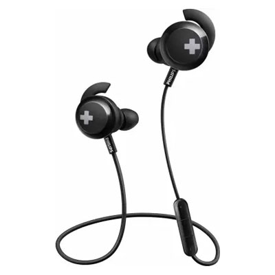 Philips SHB4305 BASS+ Wireless Bluetooth Headphones with Built-in Mic with Echo Cancellation
