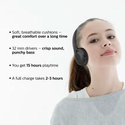 Philips UpBeat TAUH202BK Wireless Bluetooth Headset