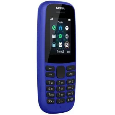 Nokia 105 SS Single Sim New Blue