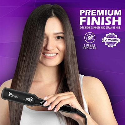 SYSKA HS2020 Wide Plate Keratin plus Ionic Hair Straightener (Black)