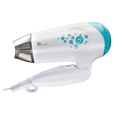 SYSKA Hair Dryer HD1610 with Cool and Hot Air (White)