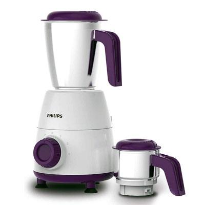 Philips HL7506 500 Watt Mixer Grinder (White and Purple)