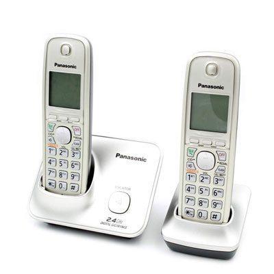 Panasonic KX-TG3712SXN Cordless Landline Phone (Silver)