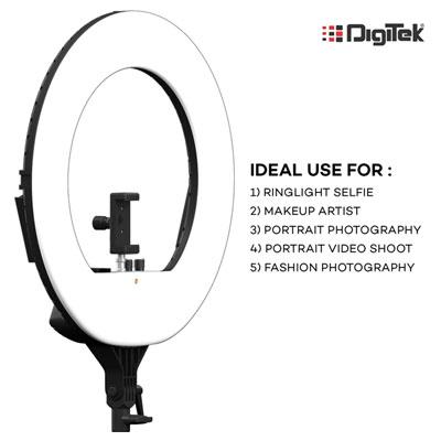 Digitek 18 inch Professional LED Ring Light (DRL-18) 5200 lx Camera LED Light