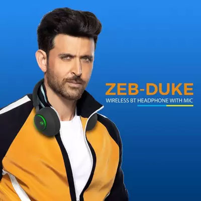 Zebronics Zeb-Duke (Black) Bluetooth Headset (Black, On the Ear)