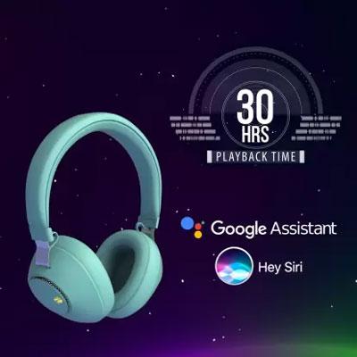 Zebronics Zeb-Duke Bluetooth Headset (Green, On the Ear)