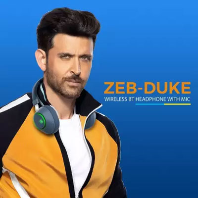 Zebronics Zeb-Duke Bluetooth Headset (Blue, On the Ear)