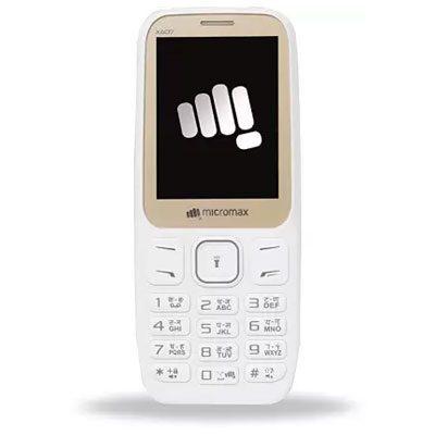 Micromax X607 Champagne White Dual Sim Mobile