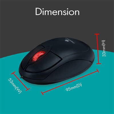 Zebronics ZEB-RISE Wired Optical Mouse