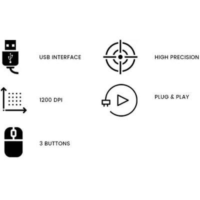 Zebronics Zeb-Alex Wired Optical Mouse (USB 2.0, Black)