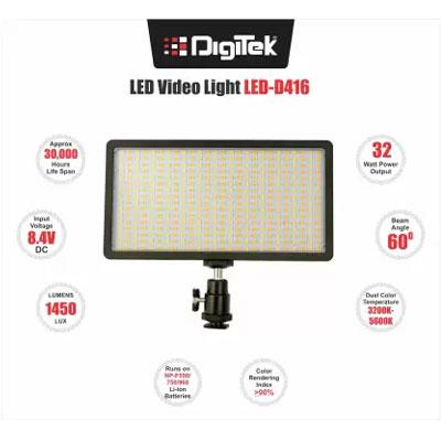 Digitek LED-D416 Professional Video Light (Black) Openbox
