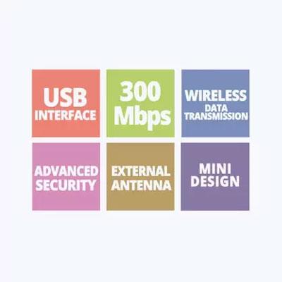 Zebronics ZEB-USB300WFD USB Adapter (Black)
