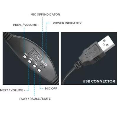 Zebronics ZEB-SUPREME Wired Headset (Black)