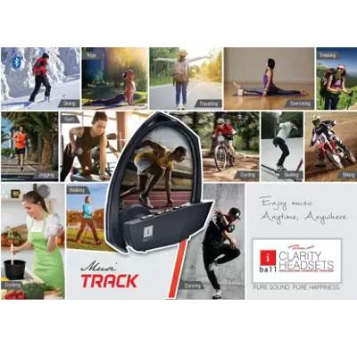 Iball Musi Track Earphone (Black-Red) Openbox