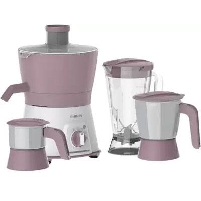 Philips Avenger HL7581 600 Juicer Mixer Grinder (Pink, 3 Jars)