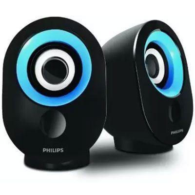 Philips SPA-50B/94 speaker with USB Plug (Blue)