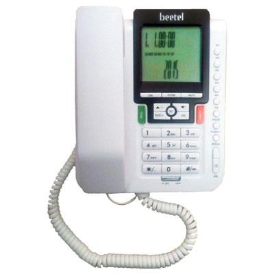 Beetel M71 Corded Landline Phone (White)
