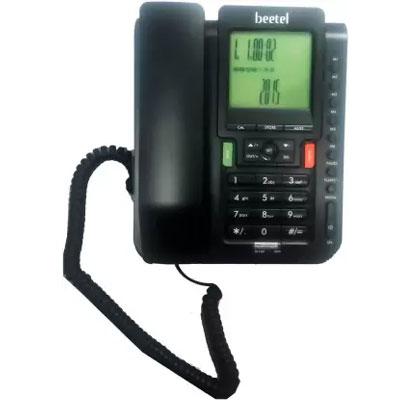 Beetel M71 Corded Landline Phone (Black)